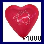 Herzballon I Love You 1.000 Stück