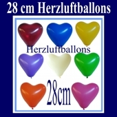 Herzluftballons 1000 Stück