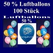 Luftballons 50 Prozent, 100 Stück