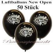 Luftballons Neueröffnung, New Open, Schwarz, 50 Stück