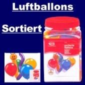 """Luftballons """"Figuren Rundballons Sortiert"""" 600 Stück"""