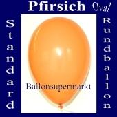 Luftballons Standard R-O 27 cm Pfirsich 10 Stück