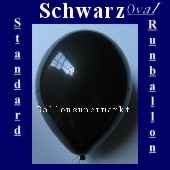 Luftballons Standard R-O 27 cm Schwarz 100 Stück