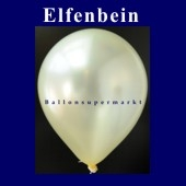 Luftballons Metallic 25 cm Elfenbein R-O 100 Stück