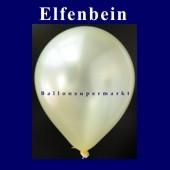 Luftballons Metallic 25 cm Elfenbein R-O 10 Stück