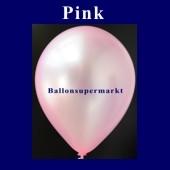 Luftballons Metallic 25 cm Pink R-O 10 Stück