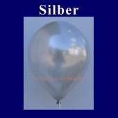 Luftballons Metallic 25 cm Silber R-O 100 Stück