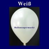 Luftballons Metallic 25 cm Weiß R-O 100 Stück