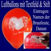 "Luftballons ""Just Married"" mit Stift 100 Stück"