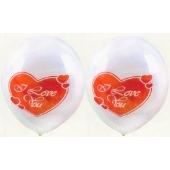 Luftballons Hochzeit und Liebe, I Love You, 25 Stück