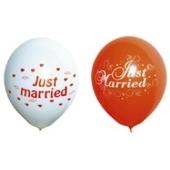 Luftballons Hochzeit, Just Married, 25 Stück