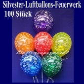 """Luftballons Silvester """"Feuerwerk"""" 100 Stück"""