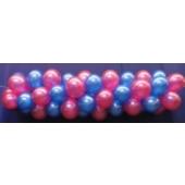 Luftballongirlande Selbstbauset 30 cm Metallicfarben