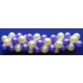 Luftballongirlande Selbstbauset 25 cm Perlmuttfarben