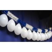 Girlande mit Luftballons Blau-Weiss 04