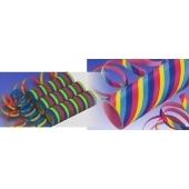 50 Rollen Luftschlangen, Papierschlangen Festdekoration zu Karneval und Fasching