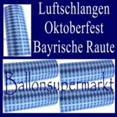 Oktoberfest-Luftschlangen Bayrische Raute, 1 Rolle