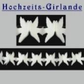 Hochzeitsdeko-Girlande Tauben 6 m / 10 Stück