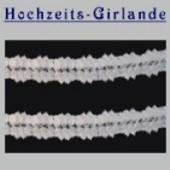 Hochzeitsdeko-Girlande Weiß 11cm / 10 Stück