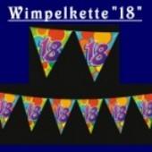 "Wimpelkette ""18"""