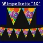 "Wimpelkette ""40"""