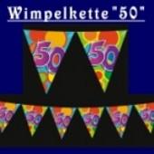 "Wimpelkette ""50"""
