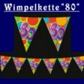 "Wimpelkette ""80"""