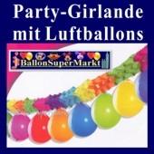 Partygirlande mit Luftballons