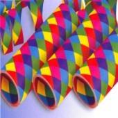 Luftschlangen mit bunten Rauten, 12 Rollen