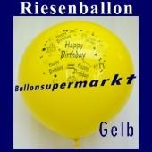 Riesenballon-Geburtstag-Happy-Birthday-Gelb-(Helium)