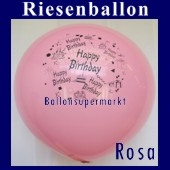 Riesenballon-Geburtstag-Happy-Birthday-Rosa-(Helium)