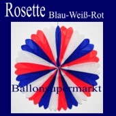 Rosette, Blau-Weiss-Rot, Dekorosette