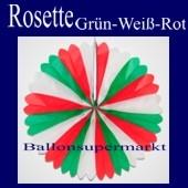 Rosette, Grün-Weiss-Rot, Dekorosette