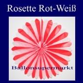 Rosette, Rot-Weiss, Dekorosette
