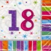 """Geburtstag 18 Deko Servietten """"Radiant Birthday"""""""