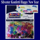 Silvester Konfetti Happy New Year, Tischdekoration