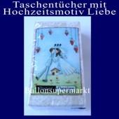 Taschentücher mit Hochzeitsmotiv Liebe