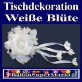 Tischdeko-Hochzeit, Weiße Blüte