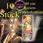 Maxi-Wunderkerzen, Riesen-Funkensprüher, 40 cm, 1 Packung, 10 Stück