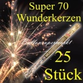 Wunderkerzen, Superlang, 70 cm, 5 Packungen, 25 Stück