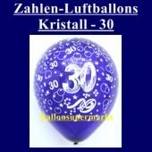 Zahlen-Luftballons-Kristall, 30