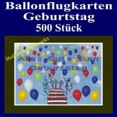 Ballonflugkarten Geburtstag, Luftballons zur Geburtstagsfeier steigen lassen, 500 Stück