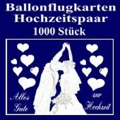 Ballonflugkarten Hochzeit, Hochzeitspaar, Glückwünsche, 1000 Karten