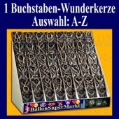 Buchstaben-Wunderkerze, Auswahl A-Z