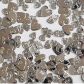 Konfetti Hochzeit, Herzkonfetti Loving Hearts Silber