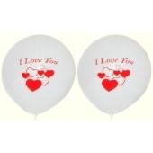 Luftballons Hochzeit und Liebe, I Love You, Herzen 25 Stück
