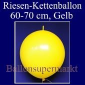 Riesen-Girlanden-Luftballon, 60-70 cm, Gelb, 1 Stück
