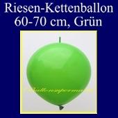 Riesen-Girlanden-Luftballon, 60-70 cm, Grün, 1 Stück
