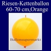 Riesen-Girlanden-Luftballon, 60-70 cm, Orange, 1 Stück