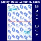 String Dekoration zu Geburt und Taufe, Baby Boy